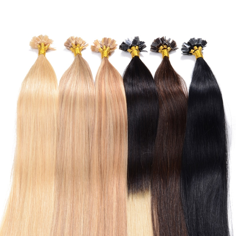 100% real natural Human Hair Remy hair  Brazilian Virgin Hair Extensions