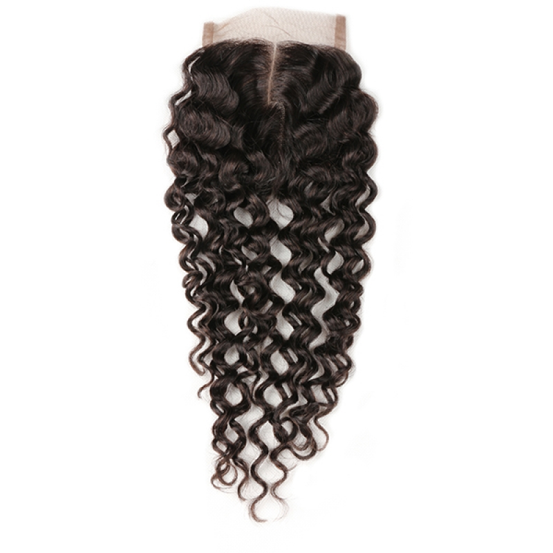 100% Human Hair malaysian curly hair lace closure malaysian kinky curly virgin hair