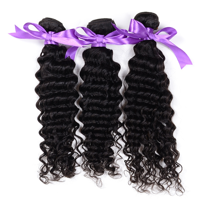 Virgin Brazilian  Remy Hair Weave Deep 7A Brazilian Deep Curly Virgin Hair