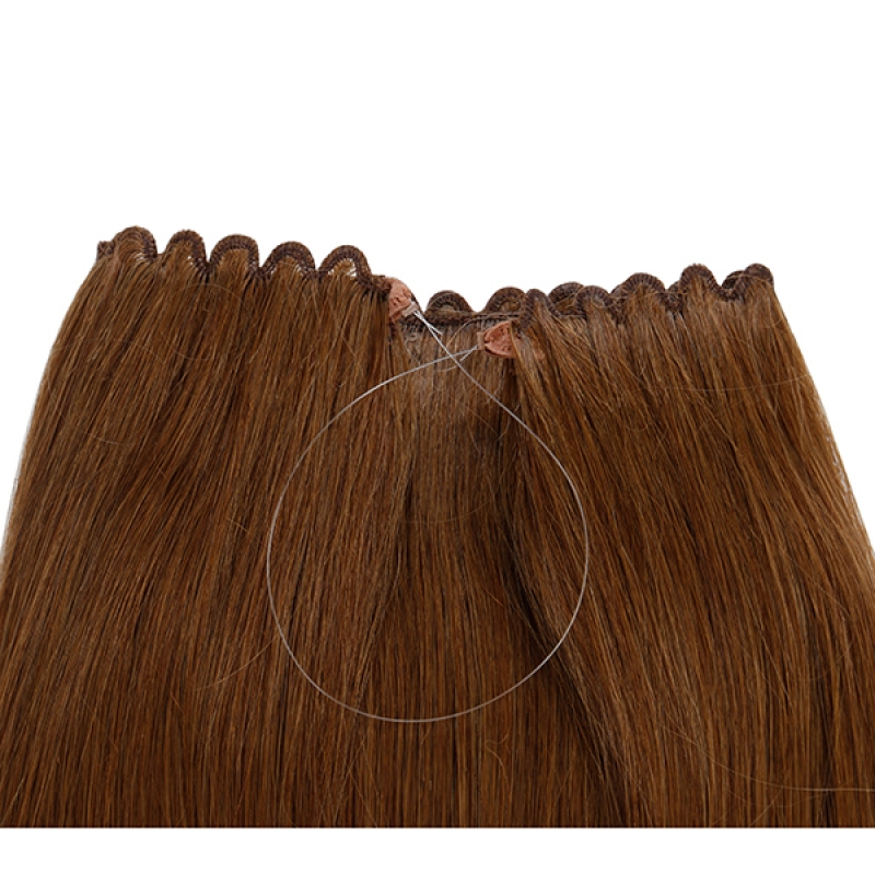 Straight Easy Fish Line Hair 1 Piece Silk 80g European Russian Hair Soft Flip In Hair Extension