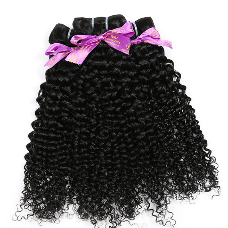 20inches Virgin Brazilain Afro Kinky Curly Human Curly Hair Weaving
