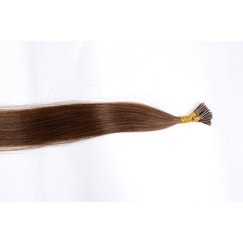 100% European human hair extension Natural wave double drawn i tip hair extension