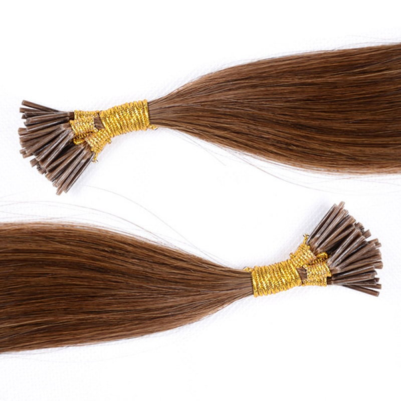 Remy Hair Straight Bonded Natural Extensions Keratin Stick I Tip Hair